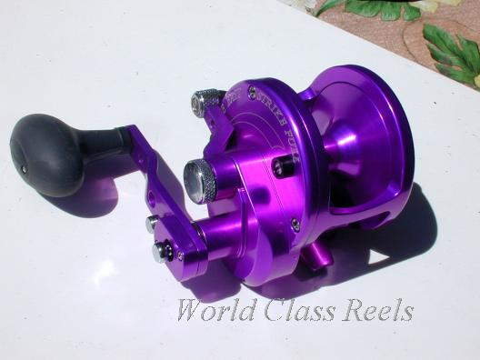 World class reels avet jx and lx for Purple fishing reel